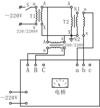 t1-升压变压器,220,2200v;